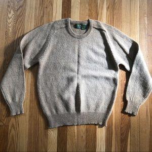 Vintage Beige Real Wool Sweater